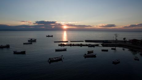 Αεροφωτογράφηση ηλιοβασίλεμα στην Κρήνη